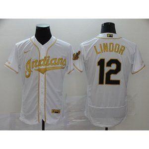 Cleveland Indians Francisco Lindor Gold Jersey